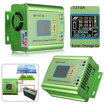 LCD MPT  7210A Solar Panel Battery Regulator Charge Controller 24/36/48/60/72V