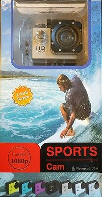 Dash Sports Action Cam Full HD 140 degree 2 inch LCD screen Waterproof 30m …