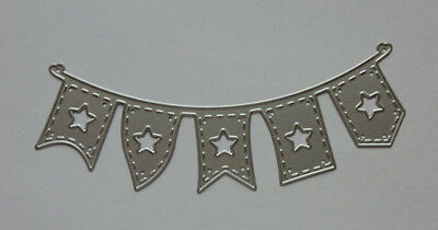 BANNER Metal Die Cutter Flags Banner Bunting with Stars 1 NEW Single Cutting Die