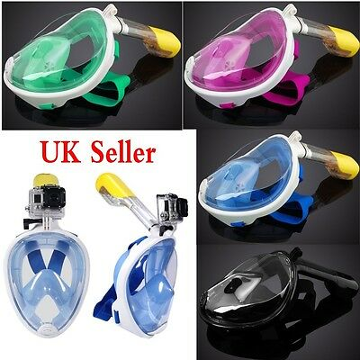 Breath Full Face Mask Surface Diving Snorkel Scuba for GoPro Swimming Tools