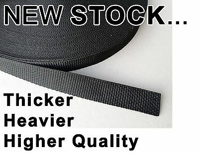 25mm webbing Strapping - Heavy Thick quality - 1.5mm thick - 18.5 gram per meter