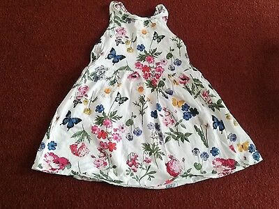 H&M girls white floral dress 18-24 months