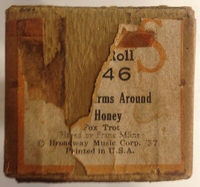 """QRS Piano Word Roll 7846 """"Put Your Arms Around Me Honey"""" Fox Trot VINTAGE 1937"""
