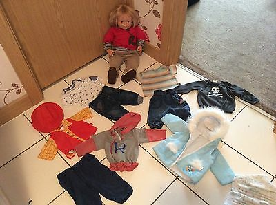 Roby Pico 2 Foot Toddler Doll From Smoby With Lots Of Lovely Clothes