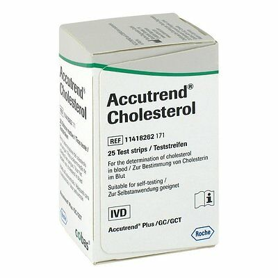 Accutrend Cholesterol Test Strips x25