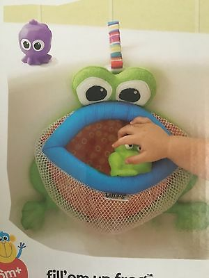 Lamaze Fill em up Frog Bath Toy Tidy Brand New!