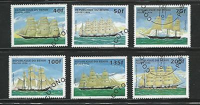 1996 Ships set of 6 40f to 200f CTO  Sold as per Scan