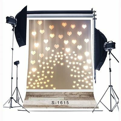 3x5ft Love Heart Baby Photography Backgrounds Vinyl Studio Photo Backdrops