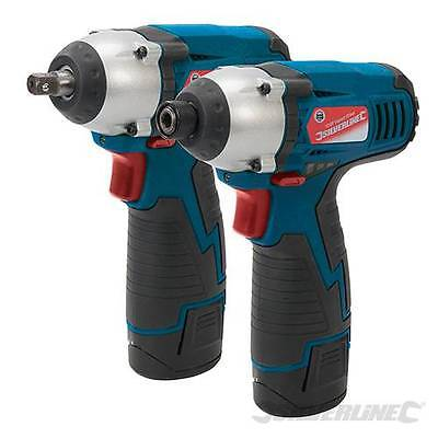Silverline 459654 Silverstorm 10.8V Impact Wrench & Impact Driver Twin Pack