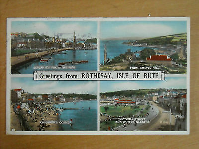 Old Multi View Postcard Of Rothesay, Isle Of Bute