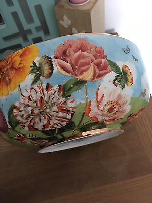 Pip Studio Royal Pip Collection 23cm Shell Bowl Gilded Gold, Floral With Birds