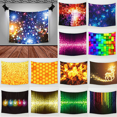 3D Colorful Geometric Polyester Tapestry Beach Towel Wall Sticker Home Decor