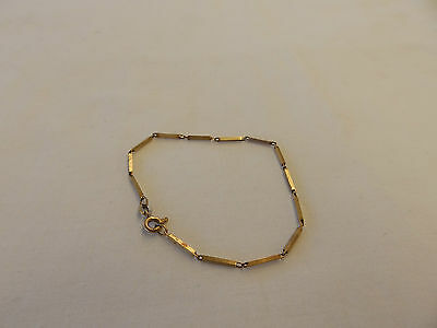 VINTAGE 9ct SOLID GOLD Stamped 375 LINK BRACELET - Weighs 1.7gms