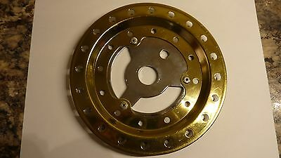 Raleigh Burner 40T Chainring And Guard -Old School BMX grifter Gold/Chrome