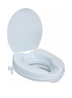 Raised toilet seat with lid
