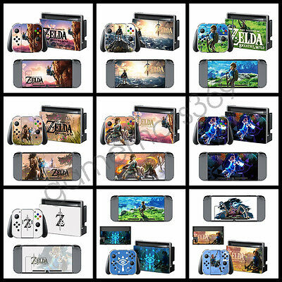 ZELDA Game For Nintendo switch Skin Sticker Console Controllers Decals Stickers