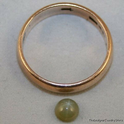Lab Grown Olive Green Star Sapphire Gemstone 5Mm Round Cabochon Gem 0.6Ct Sa30B