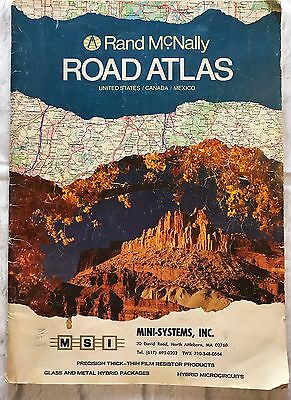 Vintage 1983 Rand McNally Road Atlas Collectable Craft Supply