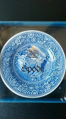 Spode Georgian Series, miniature blue and white collectable plate of Woodman.