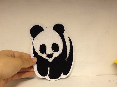 extra large panda patches patch applique iron on sew motif sewing UK