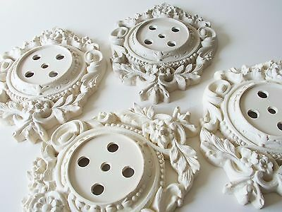 Cast Composite French Cartel Clock Design Blank Copy Craft Ready To Decorate