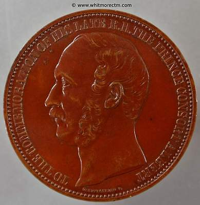 1862 International Exhibition Medal Albert Prince Consort 41mm - B2745 Bronze