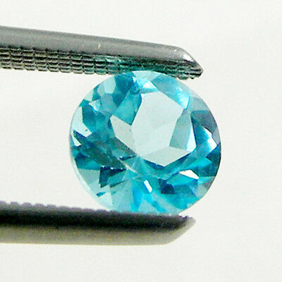 Round Cut Calibrated Size Swiss Blue Colour Natural Blue Topaz Loose Gemstone