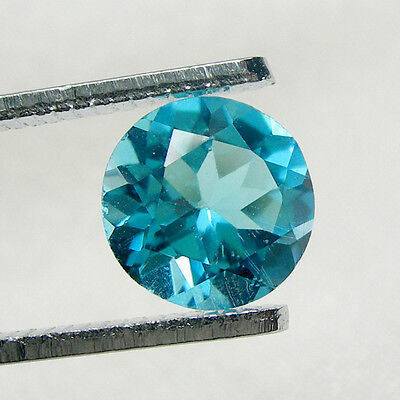 2.55 carats 8.00mm Round Brilliant Cut Natural Blue Topaz Loose Gemstone