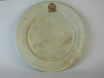 22558 Old Vintage Antique Pottery Plate Militaria Home Front NAAFI Army Navy