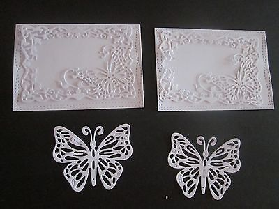Die Cut Card  6 Pieces White Cardstock
