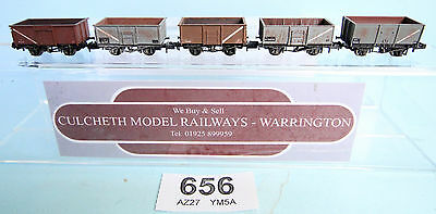 Graham Farish / Peco 'n' Gauge Lot Of 5 Assorted Weathered Mineral Wagons #656W