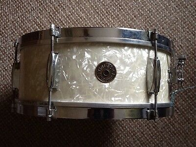 Early 1960's Vintage Gretsch Roundbadge 4105 Dixieland Snare Drum