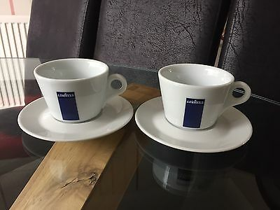 Lavazza Porcelain 6oz Coffee Cups And Saucers Unused