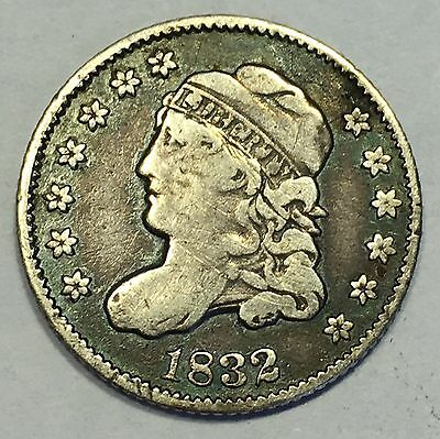 1832 Capped Bust Silver Half Dime, Nice Coin