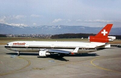 Jc Wings Jclh2051 1/200 Swissair Mcdonnell Douglas Md-11 Hb-Iwi With Stand