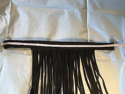 Leather And Nylon Fly Veil Full Cob Halter Attachment Black