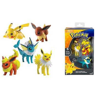 Pokemon Helden Set 5 Stück Pokemonfigur Evoli Pikachu Blitza Flamara Aquana