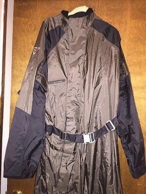 Rev It H2O Rain Suit One Piece Grey Black XL SKIN MOTORCYCLE gear