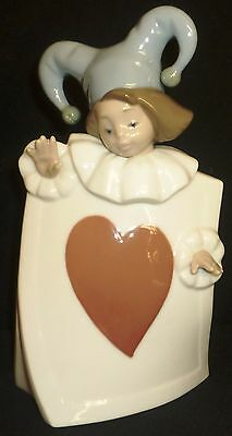 Limited Edition Nao Lladro Porcelain Figurine Jester Ace Of Hearts 1280