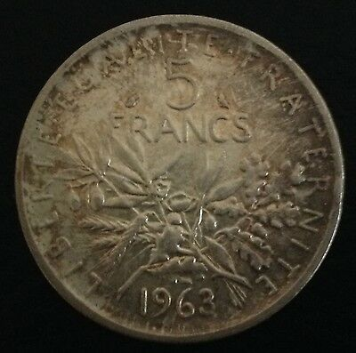 1964 France Silver 5 Francs Coin