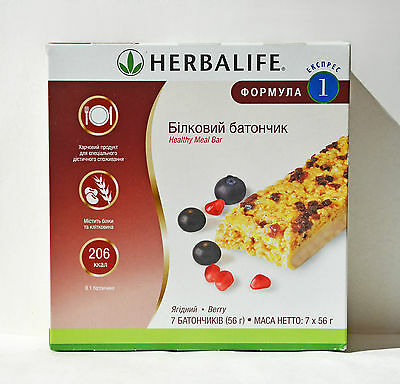HERBALIFE F1 Express Protein Bar Original, Berry, 7х56g, Exp:01/2018