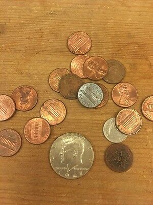 American Half Dollar Coin And Cents Joblot 1967 Kennedy