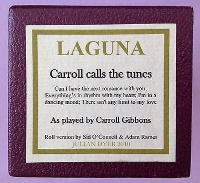Pianola Roll  - CARROLL CALLS THE TUNES -  Laguna 88 note piano roll
