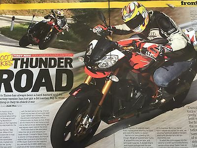Aprilia Tuona Factory - Original 4 Page 2007 Motorcycle First Ride Road Test