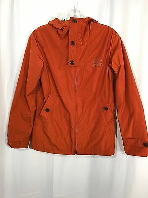 Burberry Girl Technical Orange Hooded Trench Coat Jacket Size 14Y/164cm