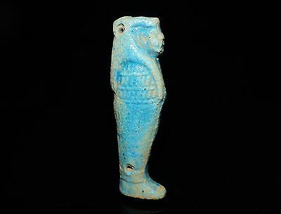 Ancient Egyptian Faience Son of Horus Amulet.