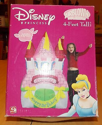 Disney Princess Airblown Inflatable Birthday Castle 4' Personalize