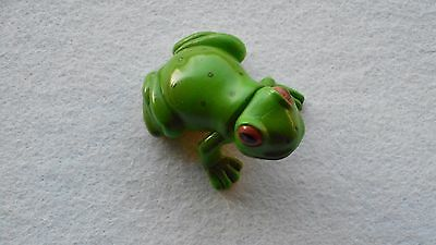 Yowie Green Tree Frog Beautifully Hand Painted Original White Plastic within