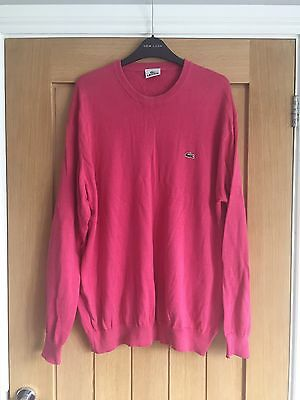 Pink Lacoste Jumper Size 7