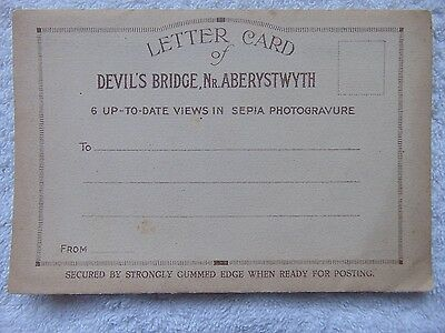 Vintage Souvenir Letter Card - Devil's Bridge Nr Aberystwyth -6 Photos - Unused